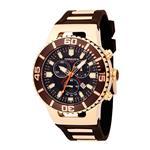 トーゲン 時計 Torgoen Mens Analog Quartz Watch with Brown Dial and Rubber Strap - T24302