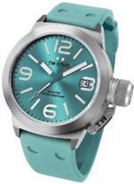 ティーダブルスティール 時計 TW Steel Canteen Turquoise Dial Turquoise Silicone Mens Watch TW525