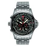 トーゲン 時計 TORGOEN Swiss Mens Quartz Watch with Black Dial Chronograph Display and Silver