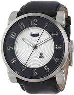 ベスタル 時計 Vestal Mens DOP009 Doppler Black Leather Strap Watch