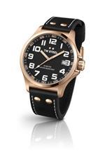 ティーダブルスティール 時計 TW Steel Pilot Unisex Quartz Watch with Black Dial Analogue Display and<img class='new_mark_img2' src='https://img.shop-pro.jp/img/new/icons34.gif' style='border:none;display:inline;margin:0px;padding:0px;width:auto;' />