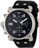 ベスタル 時計 Vestal Mens OBCS002 USS Observer Chrono Black/Silver Lume Watch
