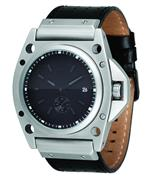 <img class='new_mark_img1' src='https://img.shop-pro.jp/img/new/icons23.gif' style='border:none;display:inline;margin:0px;padding:0px;width:auto;' />ベスタル 時計 Vestal Mens DEC004 Decibel Matte Silver Case Black Leather Watch