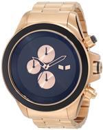 ベスタル 時計 Vestal Mens ZR3019 ZR-3 Minimalist Rosegold Black Chronograph Watch