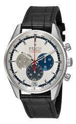 ゼニス 時計 Zenith Mens 03.2041.4052/69.c496 El Primero Striking 10th Chronograph Silver Chronograph