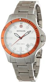 ウェンガー 時計 Wenger Battalion Diver 200M Steel Case Watch With Orange Bezel<img class='new_mark_img2' src='https://img.shop-pro.jp/img/new/icons13.gif' style='border:none;display:inline;margin:0px;padding:0px;width:auto;' />