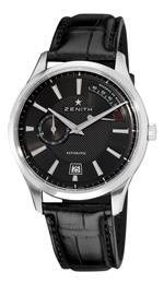 ゼニス 時計 Zenith Mens 03.2120.685/22.C493 Elite Captain Power Reserve Black Dial Watch