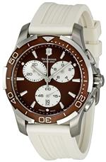 ビクトリノックス スイスアーミー 時計 Victorinox Swiss Army Womens 241503 Brown Dial Chronograph