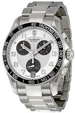 ビクトリノックス スイスアーミー 時計 Victorinox Swiss Army Chrono Classic Silver Dial Mens Watch