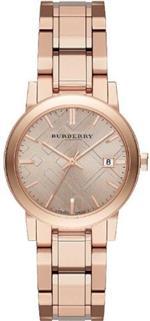 バーバリー 時計 Burberry The City Rose Dial Rose Gold-tone Ladies Watch BU9135