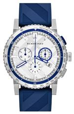 バーバリー 時計 Burberry City Sport Swiss Analog Quartz Blue Rubber Strap Chronograph Mens BU9808<img class='new_mark_img2' src='https://img.shop-pro.jp/img/new/icons23.gif' style='border:none;display:inline;margin:0px;padding:0px;width:auto;' />