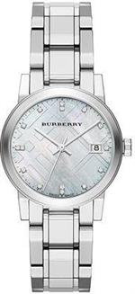 バーバリー 時計 Burberry Diamond Accent Stainless Steel Ladies Watch BU9125