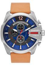 ディーゼル 時計 Diesel Mega Chief Blue Dial Tan Leather Mens Watch DZ4319