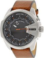 ディーゼル 時計 Diesel Mega Chief World Time Black Dial Brown Leather Mens Watch DZ4321<img class='new_mark_img2' src='https://img.shop-pro.jp/img/new/icons7.gif' style='border:none;display:inline;margin:0px;padding:0px;width:auto;' />