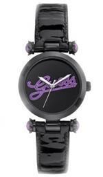 ゲス 時計 Guess Womens On Trend Iconic Style Purple Glitz Logo Black Patent Leather Strap Watch<img class='new_mark_img2' src='https://img.shop-pro.jp/img/new/icons35.gif' style='border:none;display:inline;margin:0px;padding:0px;width:auto;' />