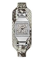 ゲス 時計 GUESS Womens Silver-Tone Embossed Cuff Watch