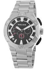 アイス 時計 Police Mens PL-12740JS/02M Cyclone Black Dial Stainless Steel Watch