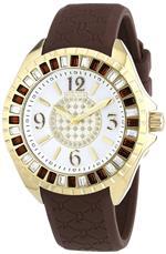 アイス 時計 Police Womens PL-13090JSG/28C Jade Crystal Bezel Black Rubber Watch