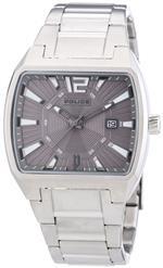 アイス 時計 Police Mens PL-13407JS/61M District Stainless Steel Grey Dial Watch