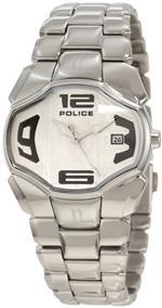 アイス 時計 Police Womens PL-12896BS/04M Angel Silver Dial Stainless Steel Date Watch