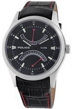 アイス 時計 Police Mens PL-11181JS/02 High Beam Black Leather Dual-Time Date Watch<img class='new_mark_img2' src='https://img.shop-pro.jp/img/new/icons8.gif' style='border:none;display:inline;margin:0px;padding:0px;width:auto;' />