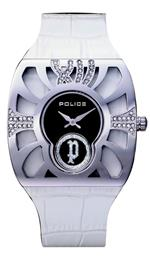 アイス 時計 Police Womens White Crocodile Leather Watch PL11184MS02