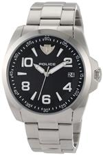 アイス 時計 Police Mens PL-12157JS/02MC Sovereign Black Dial Steel Bracelet Watch