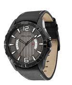 アイス 時計 Police Mens PL-12889JVSB/61 Profile Black Leather Luminous Date Watch