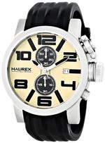 ハウレックスイタリア 時計 Haurex Italy Mens 6A506UTM TURBINA II Analog Display Quartz Black Watch