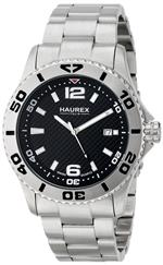 ハウレックスイタリア 時計 Haurex Italy Mens 7A500UNN Factor Black dial watch.