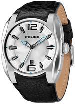 アイス 時計 Police PL-13752JS-04A Mens New Hampshire Silver Sunray Dial Leather Strap Watch