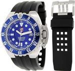 ルミノックス 時計 Luminox Mens Deep Dive 1513 Black Rubber Swiss Quartz Watch with Black Dial