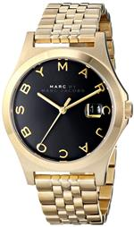 マーク ジェイコブス 時計 Marc by Marc Mens MBM3315 The Slim Watch Gold Tone With Black Dial Face