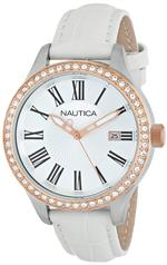 ノーティカ 時計 Nautica Womens N12653M BFD 101 Date Mid Japanese Three Hand Watch