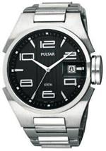 パルサー 時計 Pulsar by Seiko Zound Up Mens Big Date Black Dial Stl. Steel Quartz Watch PXH543<img class='new_mark_img2' src='https://img.shop-pro.jp/img/new/icons10.gif' style='border:none;display:inline;margin:0px;padding:0px;width:auto;' />