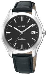 パルサー 時計 Mens Pulsar Leather Black Dial Date 5ATM Casual Watch PXH735<img class='new_mark_img2' src='https://img.shop-pro.jp/img/new/icons16.gif' style='border:none;display:inline;margin:0px;padding:0px;width:auto;' />