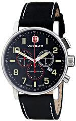 <img class='new_mark_img1' src='https://img.shop-pro.jp/img/new/icons37.gif' style='border:none;display:inline;margin:0px;padding:0px;width:auto;' />ウェンガー 時計 Wenger Mens 01.1243.104 Commando Chrono Analog Display Swiss Quartz Black Watch