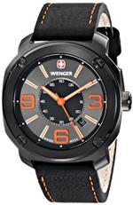 <img class='new_mark_img1' src='https://img.shop-pro.jp/img/new/icons18.gif' style='border:none;display:inline;margin:0px;padding:0px;width:auto;' />ウェンガー 時計 Wenger Mens 01.1051.107 Escort Analog Display Swiss Quartz Black Watch