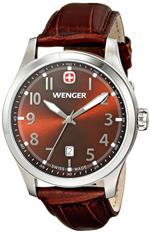 ウェンガー 時計 Wenger Mens 01.0541.119 Terragraph 3H Analog Display Swiss Quartz Brown Watch<img class='new_mark_img2' src='https://img.shop-pro.jp/img/new/icons36.gif' style='border:none;display:inline;margin:0px;padding:0px;width:auto;' />