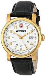 ウェンガー 時計 Wenger Urban Classic Three-Hand Leather - Black Mens watch #01.1041.110