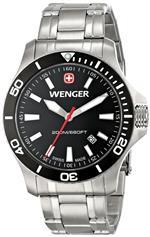 ウェンガー 時計 Wenger Mens 0641.105 Sea Force 3H Analog Display Swiss Quartz Silver Watch<img class='new_mark_img2' src='https://img.shop-pro.jp/img/new/icons8.gif' style='border:none;display:inline;margin:0px;padding:0px;width:auto;' />