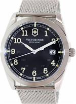 ビクトリノックス スイスアーミー 時計 Victorinox Swiss Army Infantry Black Dial Steel Mens Watch
