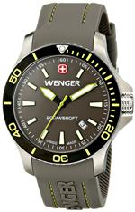 ウェンガー 時計 Wenger Mens 01.0641.110 Sea Force 3H Analog Display Swiss Quartz Grey Watch