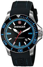 <img class='new_mark_img1' src='https://img.shop-pro.jp/img/new/icons4.gif' style='border:none;display:inline;margin:0px;padding:0px;width:auto;' />ウェンガー 時計 Wenger Womens 0641.104 Sea Force 3 H Analog Display Swiss Quartz Black Watch