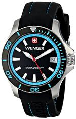 <img class='new_mark_img1' src='https://img.shop-pro.jp/img/new/icons11.gif' style='border:none;display:inline;margin:0px;padding:0px;width:auto;' />ウェンガー 時計 Wenger Womens 01.0621.105 Sea Force 3H Analog Display Swiss Quartz Black Watch