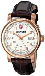 ウェンガー 時計 Wenger 01.1021.108 Ladies Urban Classic Rosegold Leather Strap Watch