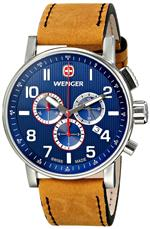 <img class='new_mark_img1' src='https://img.shop-pro.jp/img/new/icons38.gif' style='border:none;display:inline;margin:0px;padding:0px;width:auto;' />ウェンガー 時計 Wenger Mens 01.1243.101 Commando Chrono Analog Display Swiss Quartz Brown Watch
