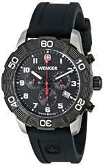 ウェンガー 時計 Wenger Mens 01.0853.104 Roadster Chrono Analog Display Swiss Quartz Black Watch<img class='new_mark_img2' src='https://img.shop-pro.jp/img/new/icons1.gif' style='border:none;display:inline;margin:0px;padding:0px;width:auto;' />
