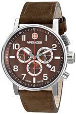 <img class='new_mark_img1' src='https://img.shop-pro.jp/img/new/icons17.gif' style='border:none;display:inline;margin:0px;padding:0px;width:auto;' />ウェンガー 時計 Wenger Mens 01.1243.102 Commando Chrono Analog Display Swiss Quartz Brown Watch