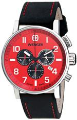 ウェンガー 時計 Wenger Mens 01.1243.103 Commando Chrono Analog Display Swiss Quartz Black Watch